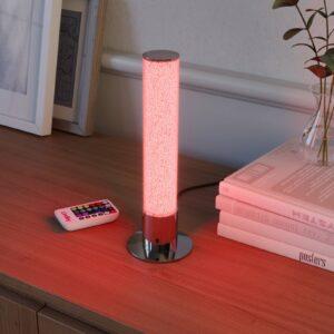LED bordlampe Fria, cylinder, RGB, fjernbetjening