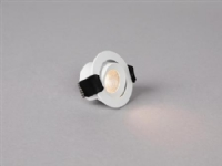 LED-downlight Optic XS Tilt Hvid 3000K, 230lm, Ra>95, 45° spredning, tilt 20°, 4W, IP44. Fasedæmpbar 230V-driver