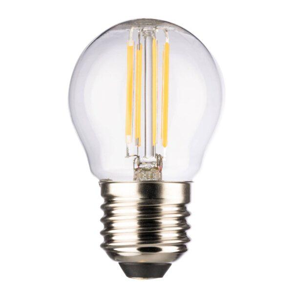 LED-dråbepære E27 4,5W 2.700 K, filament, klar