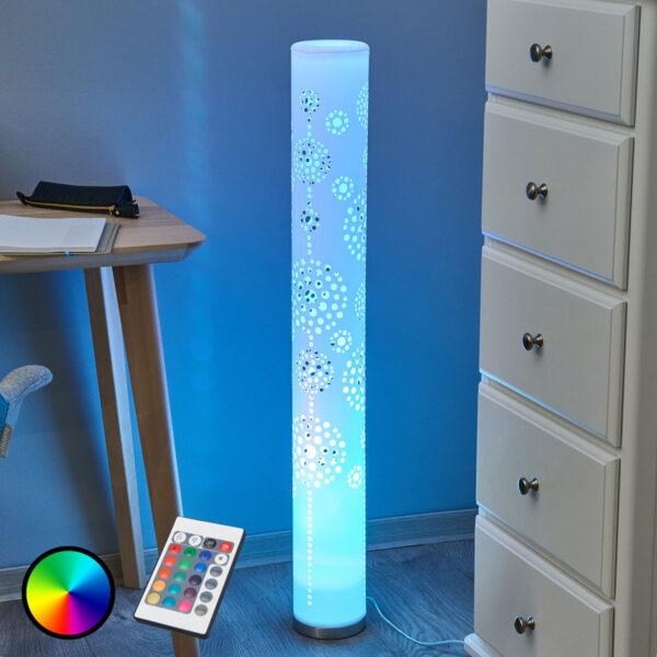 LED gulvlampe Mirella, RGB med fjernbetjening