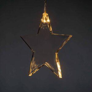 LED indendørs lysforhæng med otte stjerner