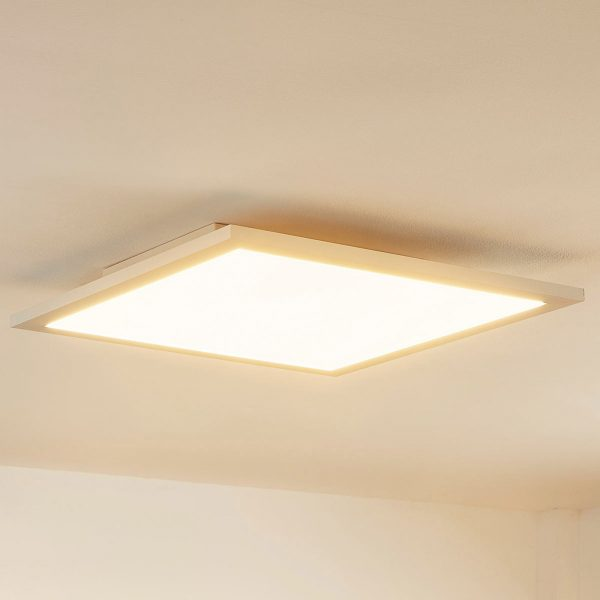 LED påbygningspanel Enja til loftet, kvadratisk