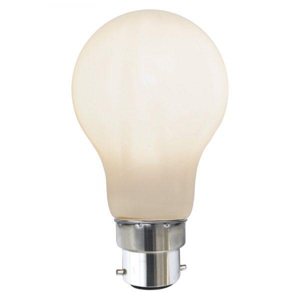 LED-pære B22 7,5W 2.700K Ra90, opal