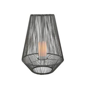 LED-solcellebordlampe Mineros, grå, højde 51 cm