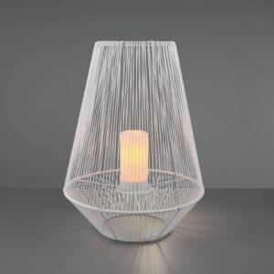 LED-solcellebordlampe Mineros, hvid, højde 51 cm