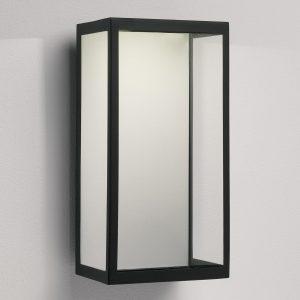 LED udendørs væglampe Puzzle i sort