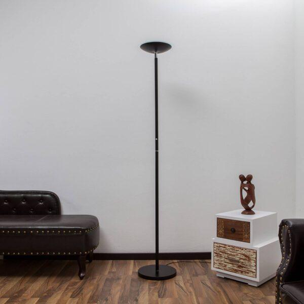 LED-uplight lampe Malea i sort
