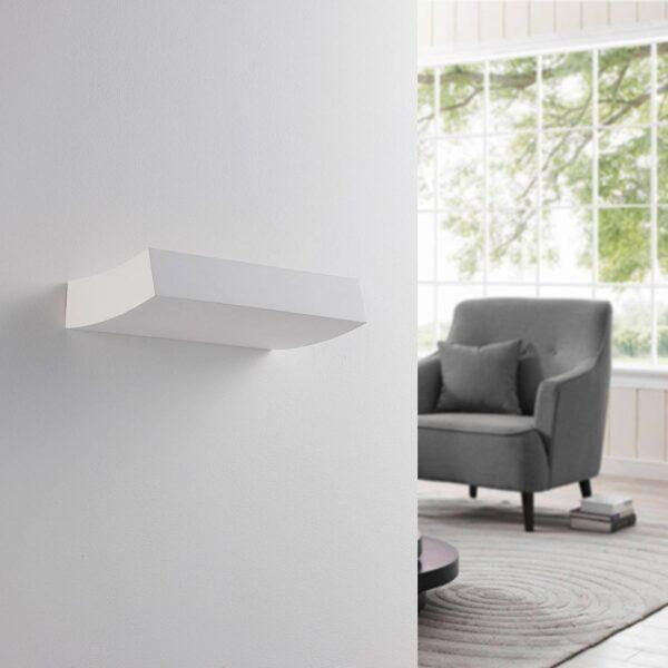 LED-uplight væglampe Dana i gips