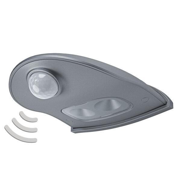 LEDVANCE Door Down LED udendørs væglampe, sølv