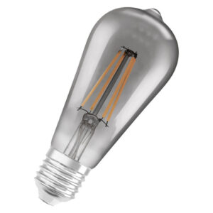 LEDvance Smart+ edison 6W filament, E27 - bluetooth, røgfarvet