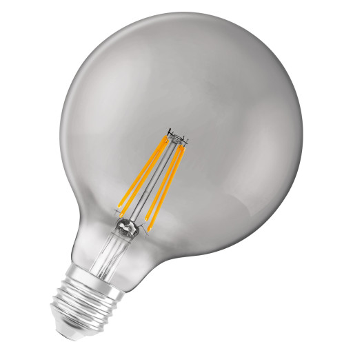 LEDvance Smart+ globe G125 6W filament, E27 - bluetooth, røgfarvet