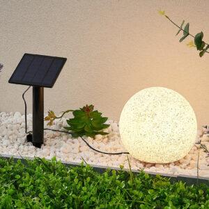 Lindby Hamela LED-dekolampe, solcelle, RGB, 20 cm
