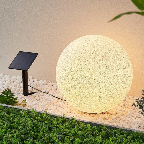 Lindby Hamela LED-dekolampe, solcelle, RGB, 40 cm