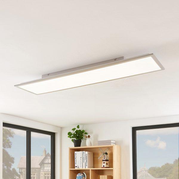 Lindby Stenley LED-panel, 4.000 K, 119 cm x 29 cm