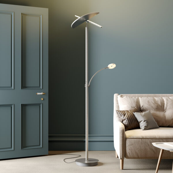 Lucande LED-uplight lampe Anniki, nikkel