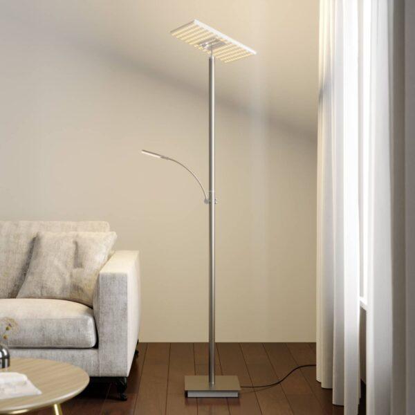 Lucande LED-uplight lampe Joveline, nikkel