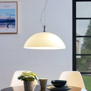 Lucande Lourenco pendellampe i opalglas, 45 cm