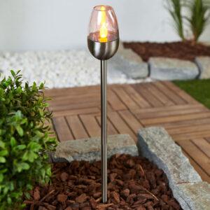 Lugin - LED solcellelampe i rustfrit stål, 3 stk.