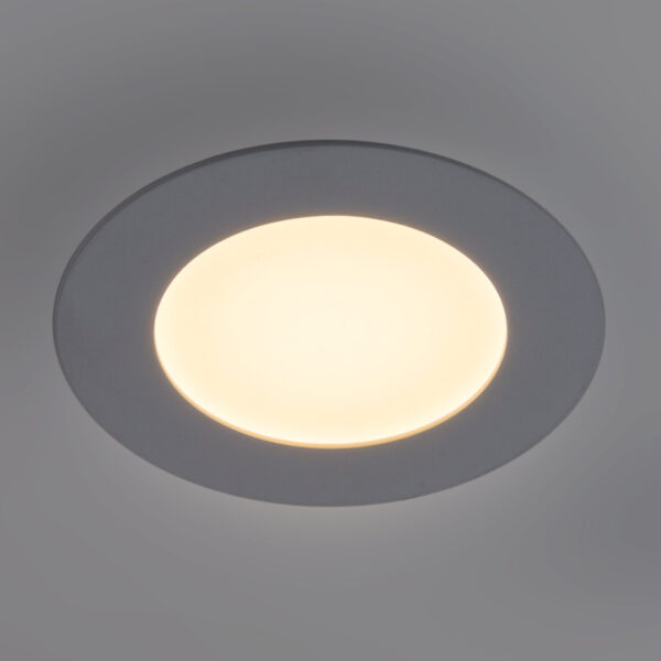 Lyon LED-panel, rund, Ø 16,8 cm, dæmpbar