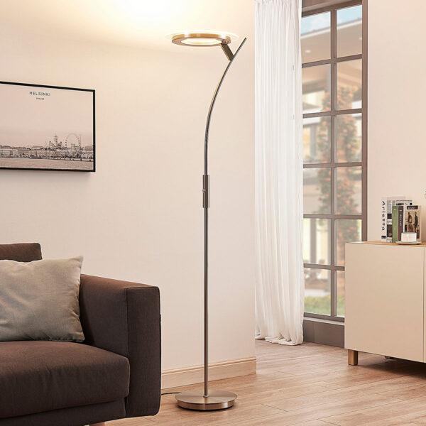 Lyskraftig LED uplight lampe Darion med dæmper