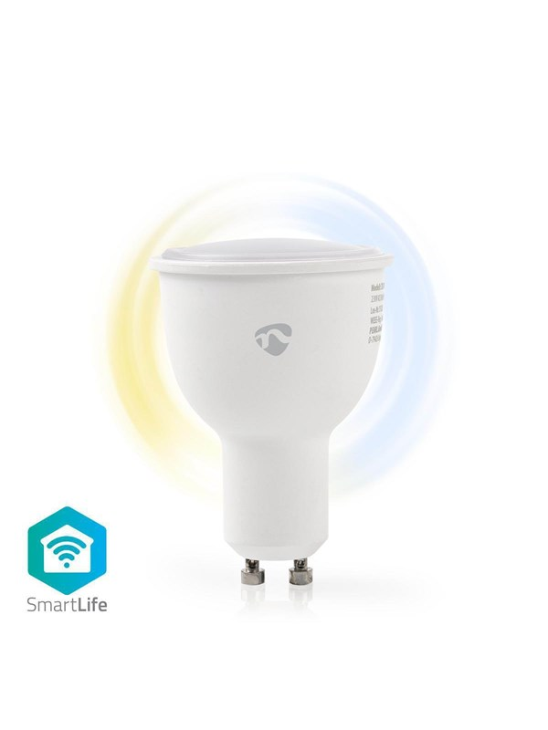 Nedis LED pre WiFi Smart LED GU10 Bulb Warm to Cool White GU10