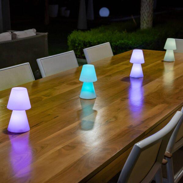 Newgarden Lola 20 LED-bordlampe, batteridrevet