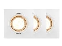 Nordlux Carina Smart Light Square 3-Kit, Intelligent lysspot, Hvid, Bluetooth, GU10, 2200 K, 6500 K