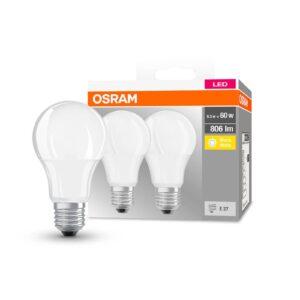 OSRAM Classic LED-pære E27 8,5 W 2.700 K 806 lm, 2