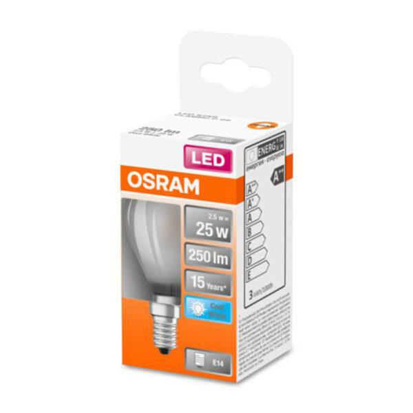 OSRAM Classic P LED-pære E14 2,5W 4.000K mat