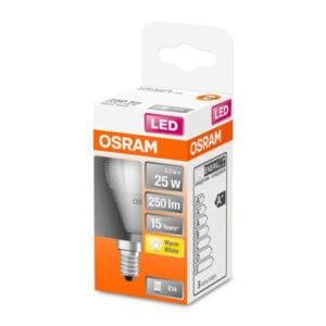 OSRAM Classic P LED-pære E14 3,3W 2.700K mat