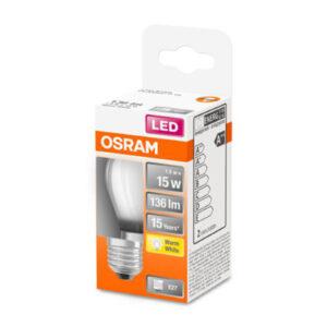 OSRAM Classic P LED-pære E27 1,5W 2.700K mat
