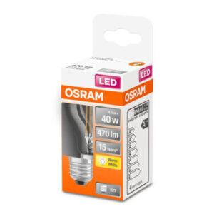 OSRAM Classic P LED-pære E27 4W 2.700K klar