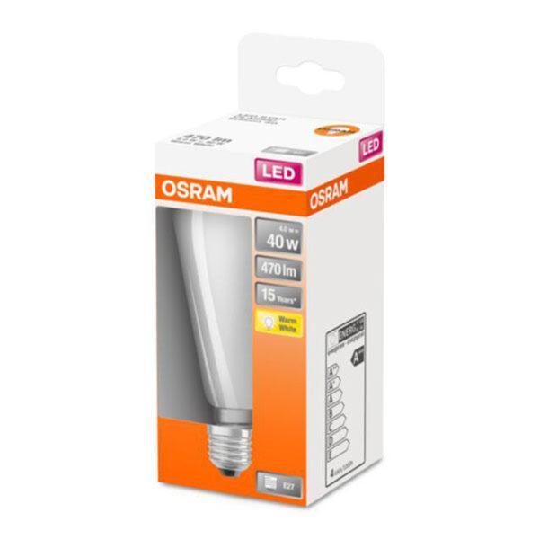 OSRAM Classic ST LED-pære E27 4W 2.700K opal
