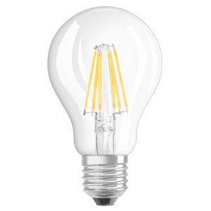 OSRAM LED-Lampe E27 7W varmhvid GLOWdim klar