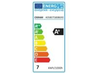 OSRAM LED (RGB) Energiklasse A+ (A++ - E) E27 Glødepæreform 6.5 W = 50 W Varmhvid (Ø x L) 60 mm x 105 mm 1 stk