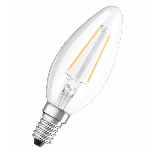 OSRAM LED-kertepære E14 1,5W retrofit klar