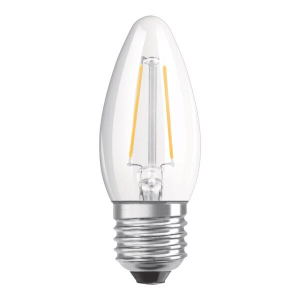 OSRAM LED-kertepære E27 5W, varmhvid, dæmpes, klar