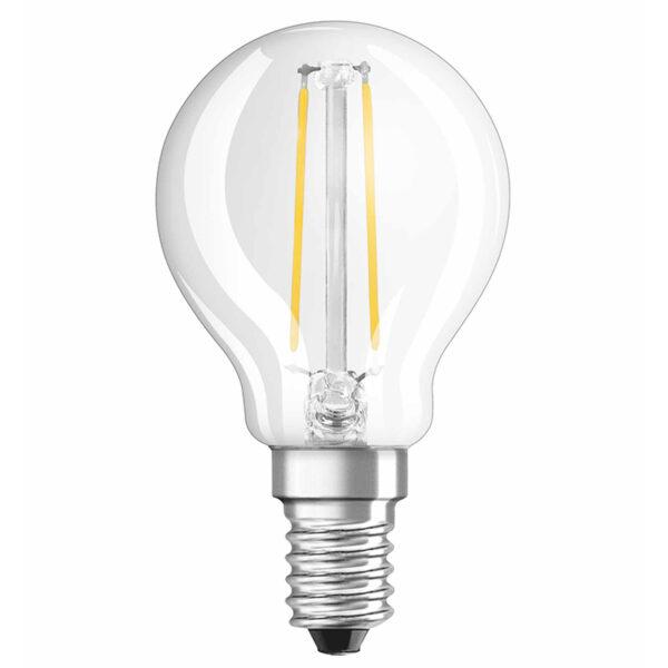 OSRAM LED-pære E14 dråbe, 2,5W 827 Retrofit klar