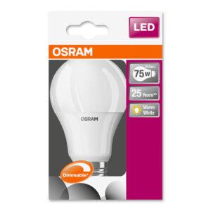 OSRAM LED-pære E27 10,5W 827 Superstar, dæmpbar