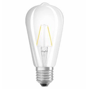 OSRAM LED-pære E27 2,5W Rustica 827 klar