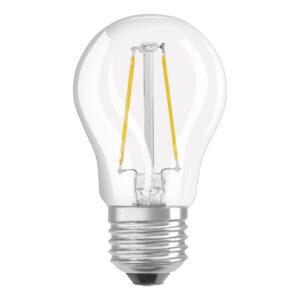 OSRAM LED-pære E27 2,8W dæmpbar varmhvid klar