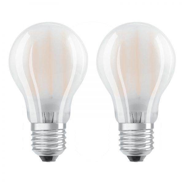 OSRAM LED-pære E27 4W, varmhvid, sæt m. 2 stk