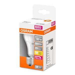 OSRAM LED-pære E27 9W 827 Superstar, mat dæmpbar