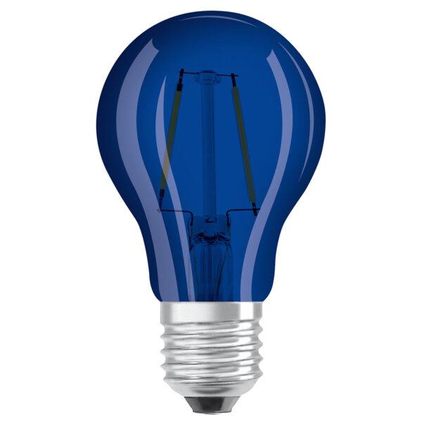 OSRAM LED-pære E27 Star Décor Cla A 2,5 W, blå