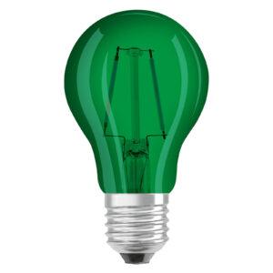 OSRAM LED-pære E27 Star Décor Cla A 2,5W, grøn