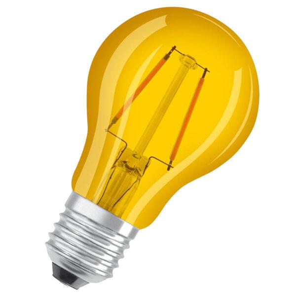 OSRAM LED-pære E27 Star Décor Cla A 2,5W, gul