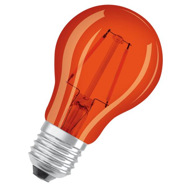 OSRAM LED-pære E27 Star Décor Cla A 2,5W, orange
