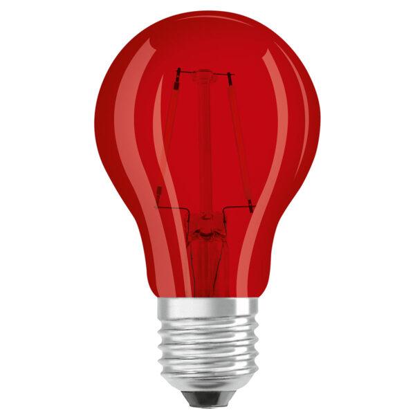 OSRAM LED-pære E27 Star Décor Cla A 2,5W, rød
