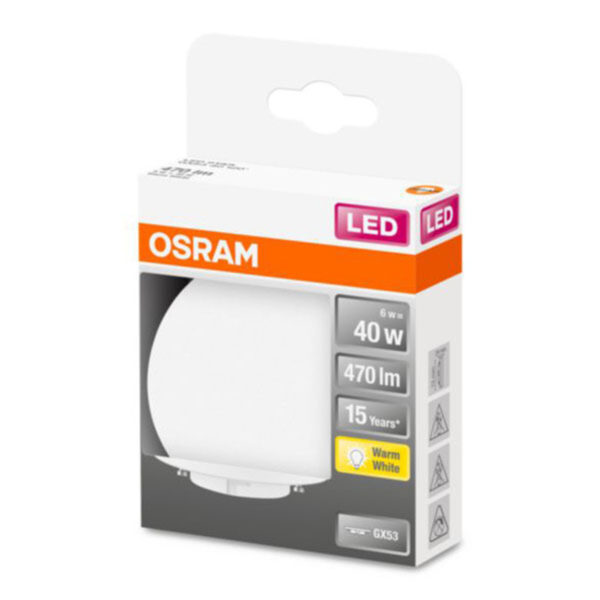 OSRAM Star Special LED-pære GX53 6W 2.700K opal
