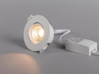 Optic Quick ISO LED-downlight hvid Tune 2000-3000K, 350 lm, Ra>95, 3SDCM, 36°, 6W, IP44. Fasedæmpbar driver inkluderet.